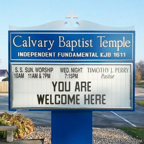 Church Sign for Calvary Baptist Temple