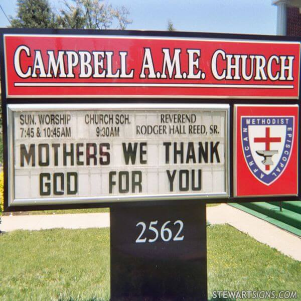 Church Sign for Campbell AME Church
