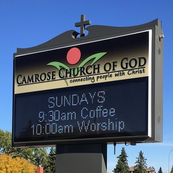 Church Sign for Camrose Church Of God
