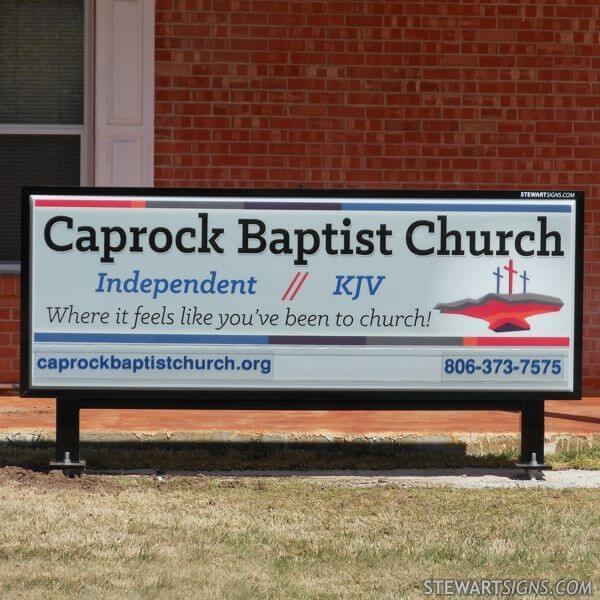 Church Sign for Caprock Baptist Church