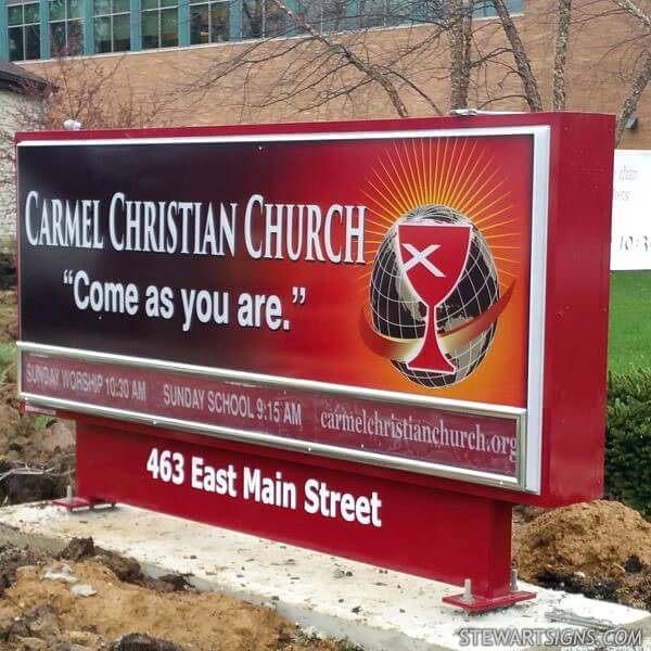 Church Sign for Carmel Christian Church