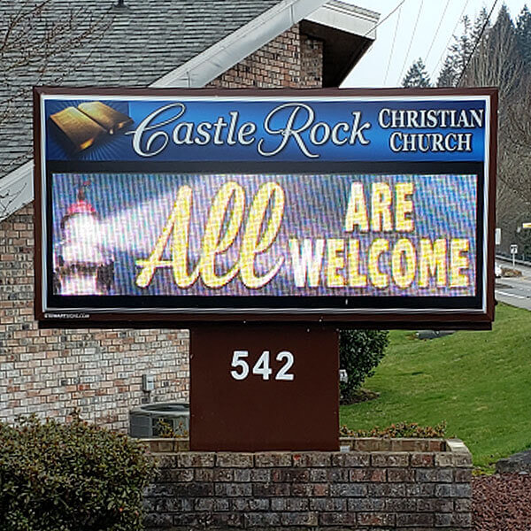 Church Sign for Castle Rock Christian Church