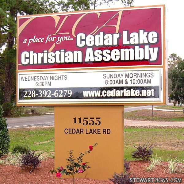 Church Sign for Cedar Lake Christian Assembly