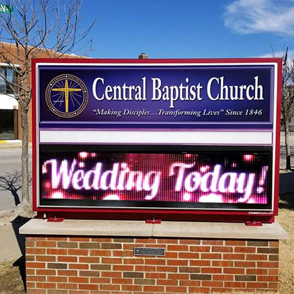 Church Sign for Central Baptist Church