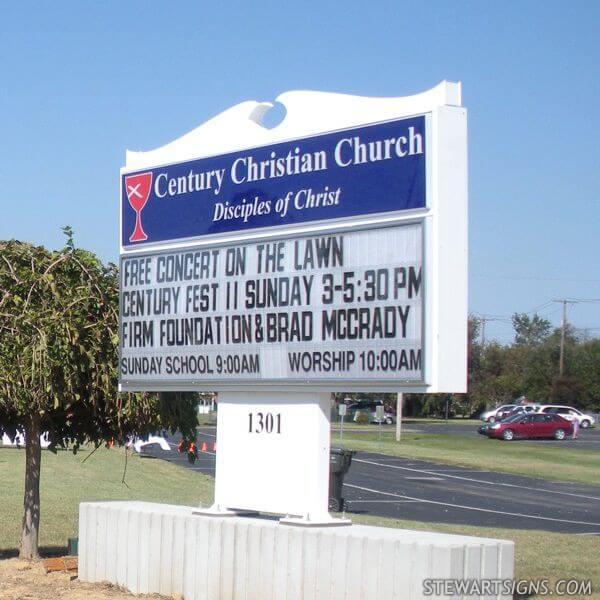 Church Sign for Century Christian Church