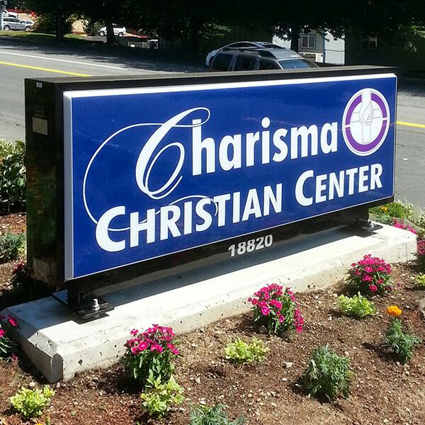 Church Sign for Charisma Christian Center