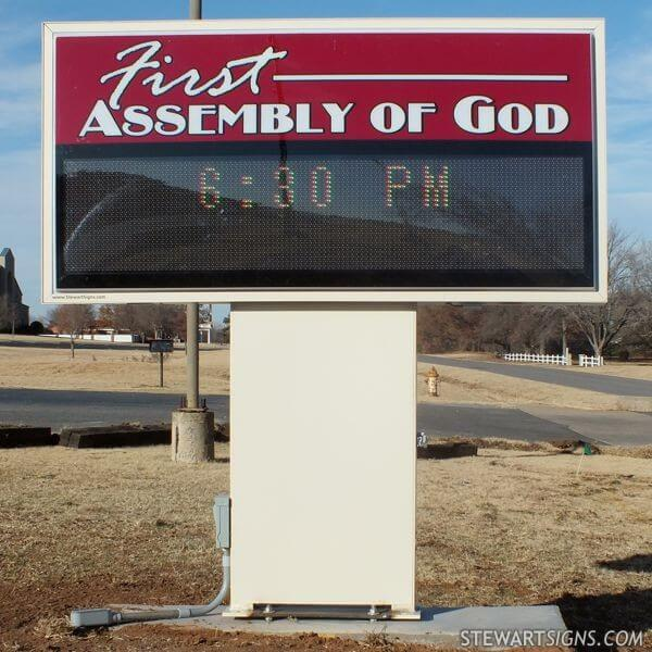 Church Sign for Chickasha First Assembly Of God