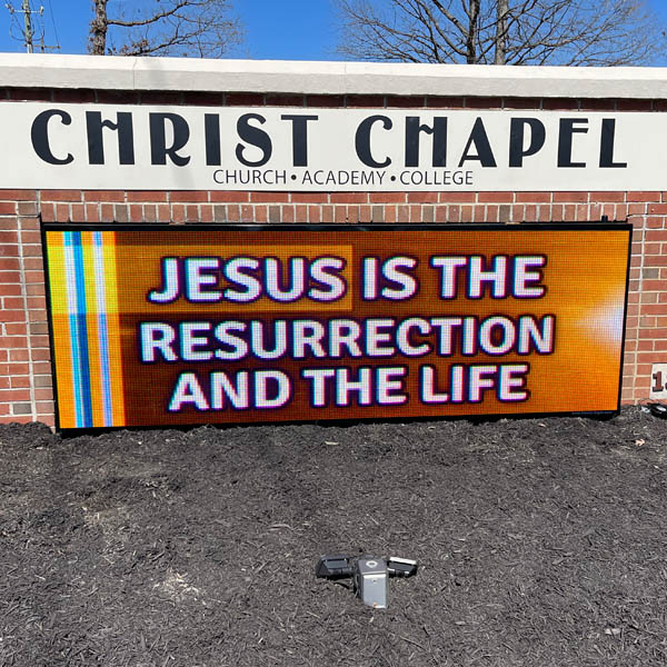 Church Sign for Christ Chapel Assembly Of God