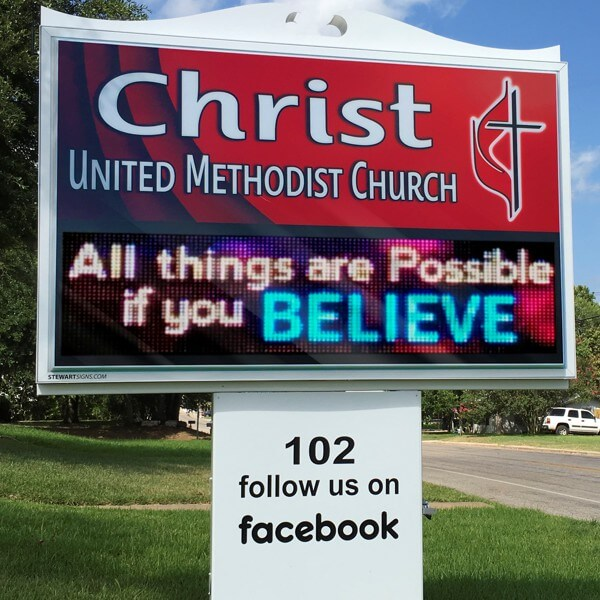 Church Sign for Christ United Methodist Church