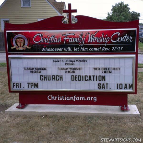 Church Sign for Christian Family Community Church