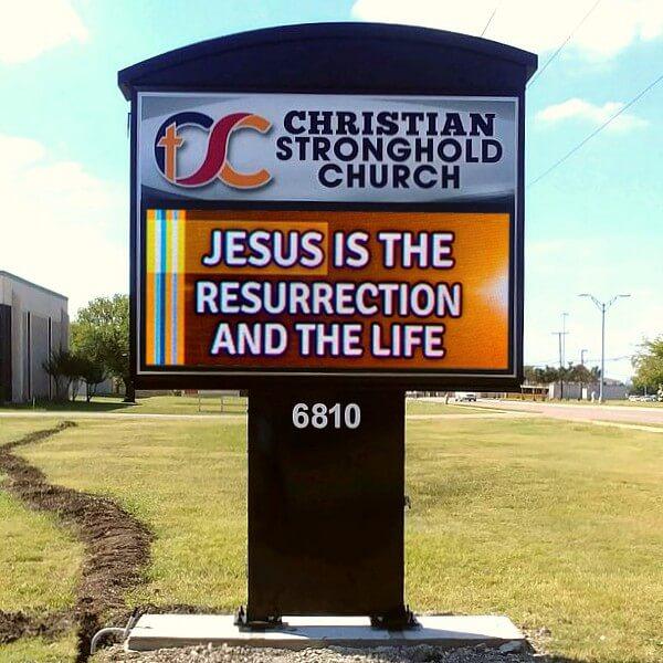 Church Sign for Christian Stronghold Baptist Church