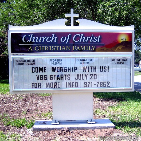 Church Sign for Los Fresnos Church Of Christ