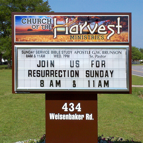 Church Sign for Church Of The Harvest