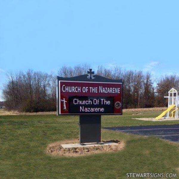 Church Sign for Church Of The Nazarene