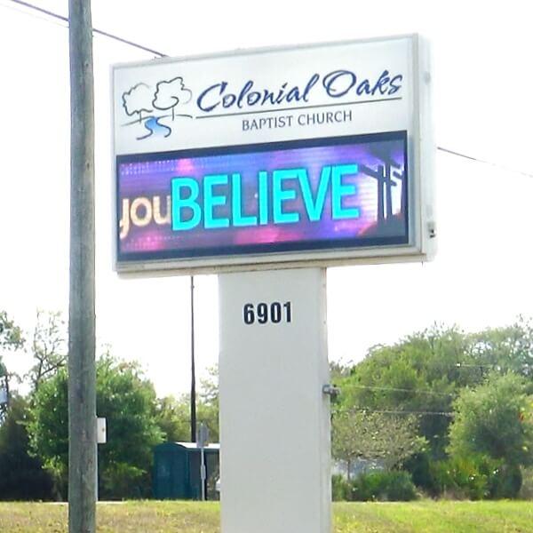 Church Sign for Colonial Oaks Baptist Church