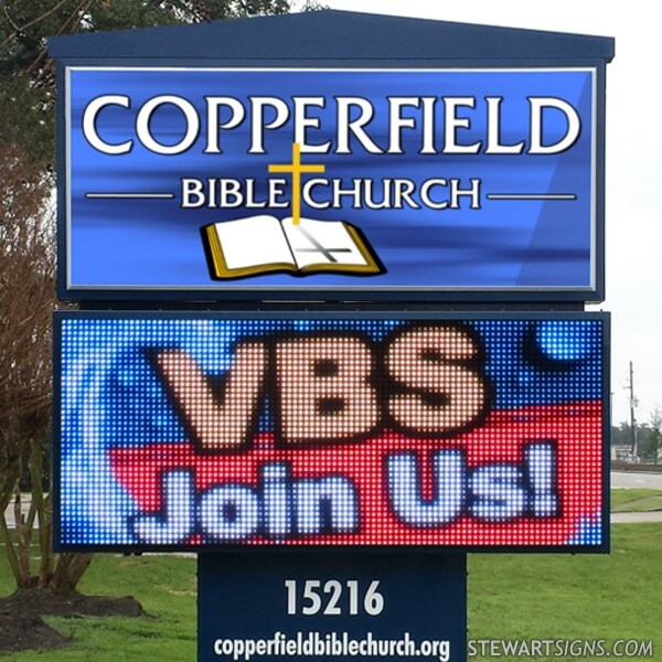 Church Sign for Copperfield Bible Church