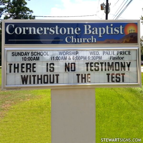 Church Sign for Cornerstone Baptist Church