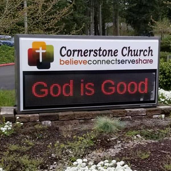 Church Sign for Cornerstone Church