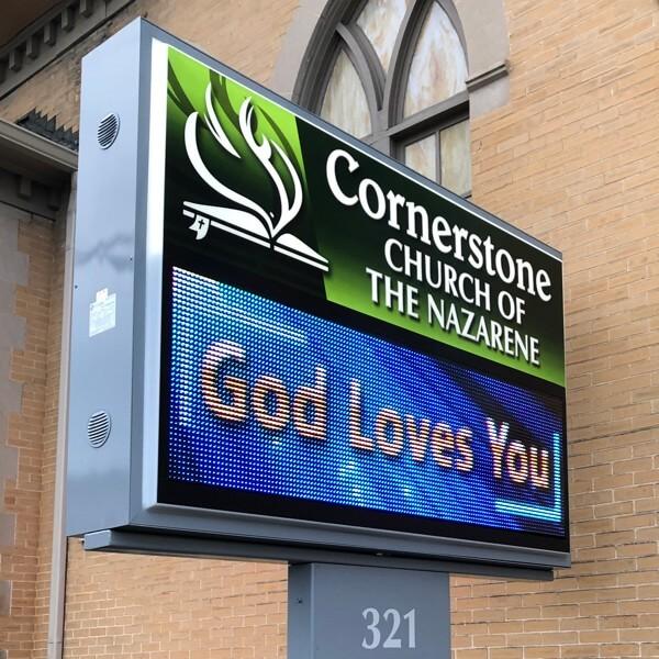 Church Sign for Cornerstone Church Of The Nazarene