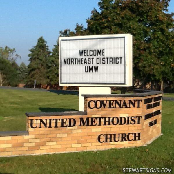 Church Sign For Covenant United Methodist Church