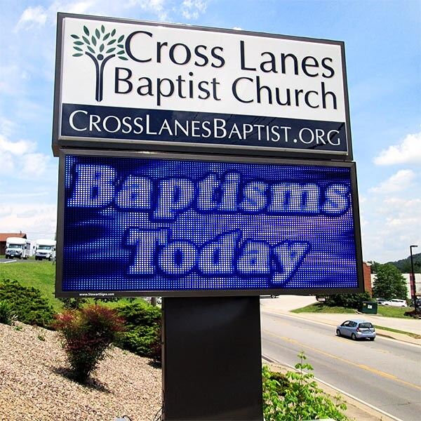 Church Sign for Cross Lanes Baptist Church
