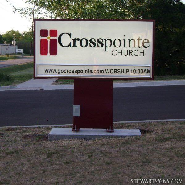 Church Sign for Crosspointe Church