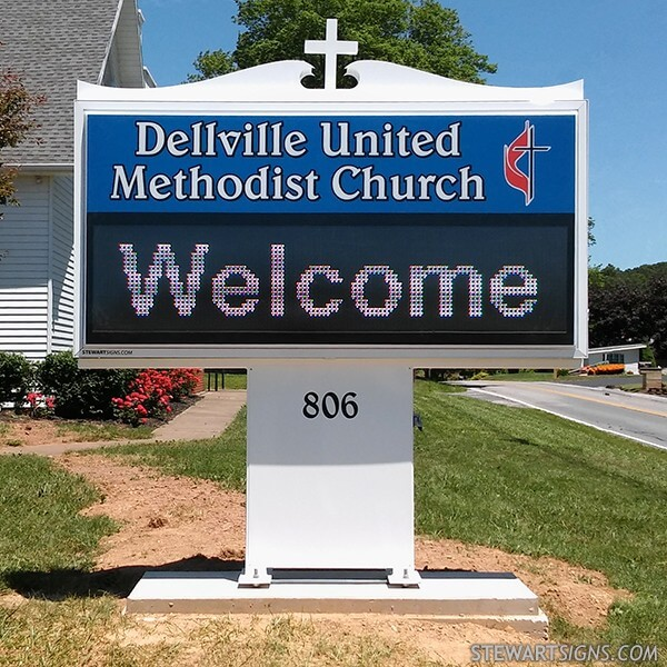 Church Sign for Dellville United Methodist Church
