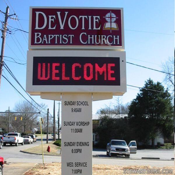 Church Sign for Devotie Baptist Church