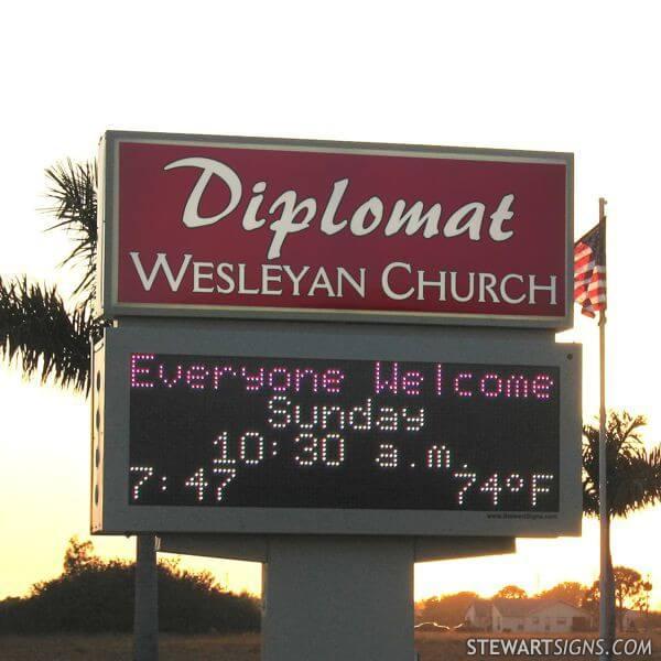 Church Sign for Diplomat Wesleyan Church