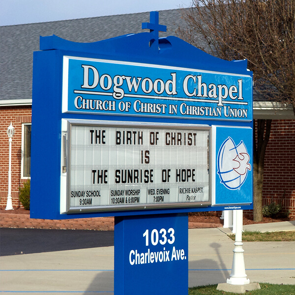 Church Sign for Dogwood Chapel Church Of Christian Union