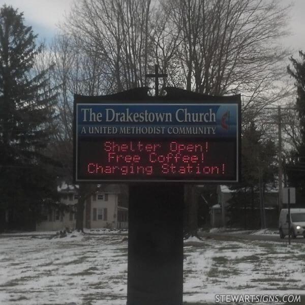 Church Sign for Drakestown United Methodist Church