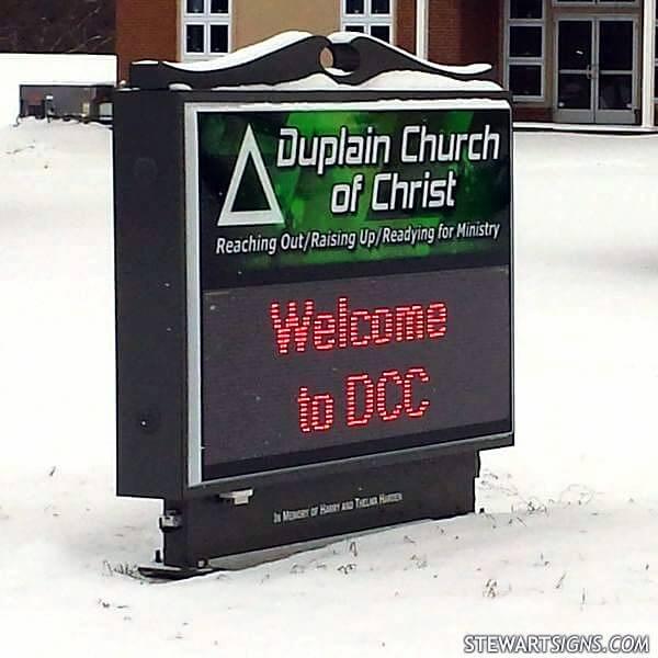 Church Sign for Duplain Church Of Christ
