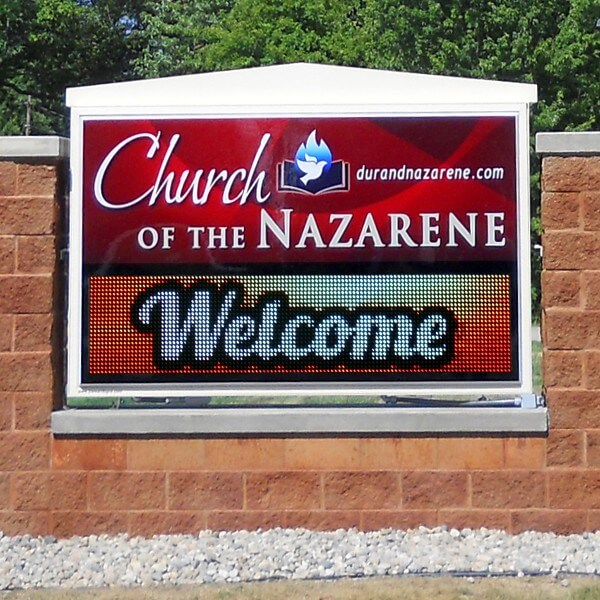 Church Sign for Church Of The Nazarene