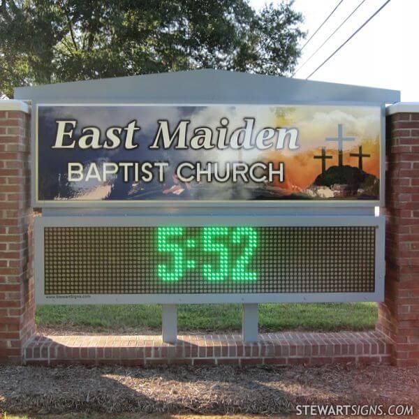Church Sign for East Maiden Baptist Church