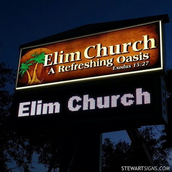 Church Sign for Elim Church