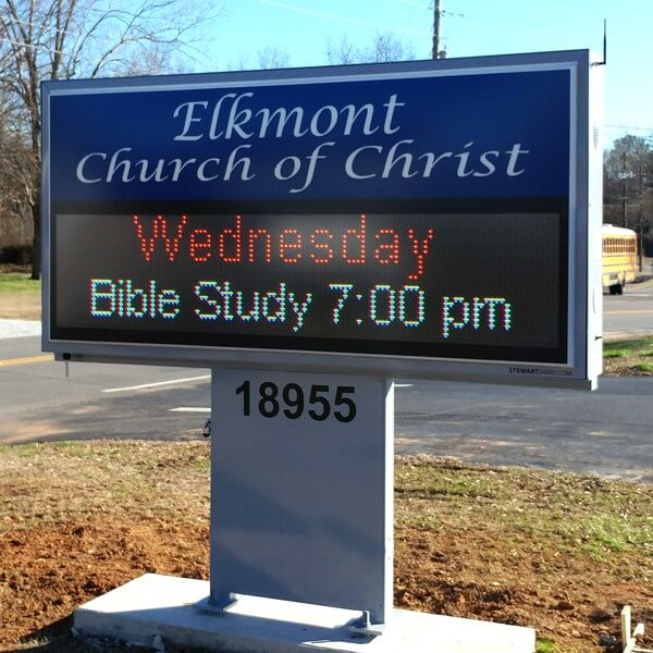 Church Sign for Elkmont Church Of Christ