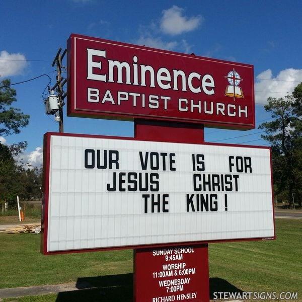 Church Sign for Eminence Baptist Church
