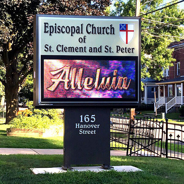 Church Sign for Episcopal Church Of St. Clement & St. Peter
