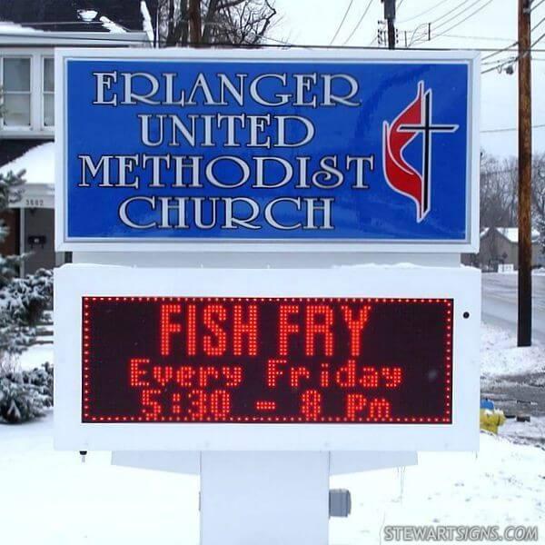 Church Sign for Erlanger United Methodist Church