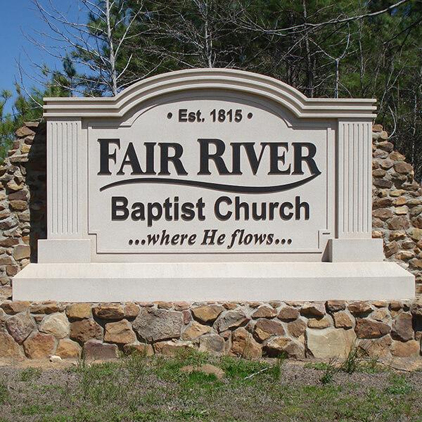 Church Sign for Fair River Baptist Church