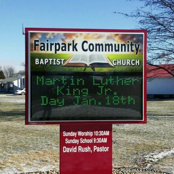 Church Sign for Fairpark Community Baptist Church