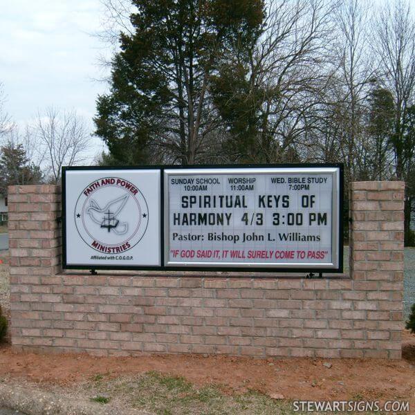 Church Sign for Faith And Power Ministries