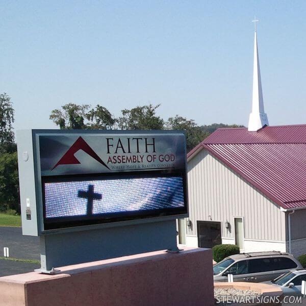 Church Sign for Faith Assembly Of God