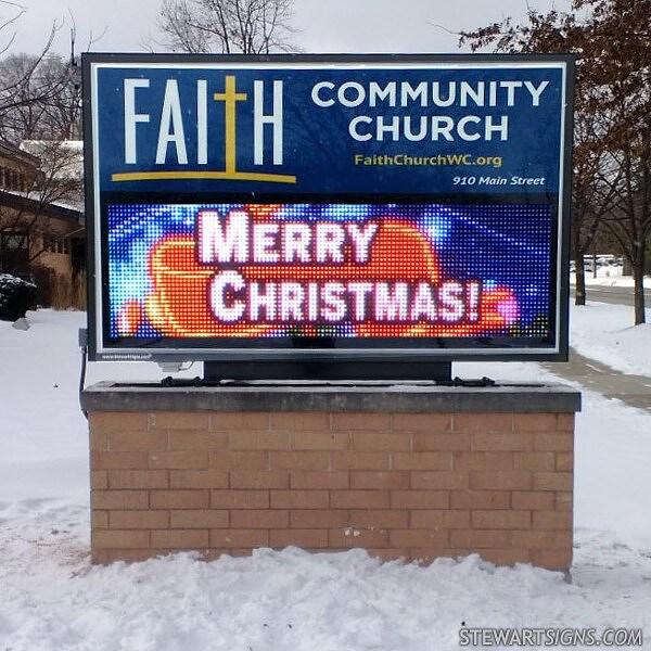 Church Sign for Faith Community Church