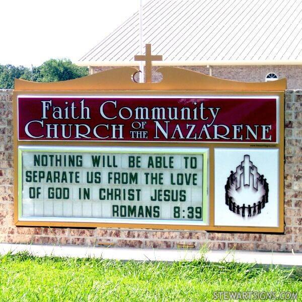 Church Sign for Faith Community Church Nazarene