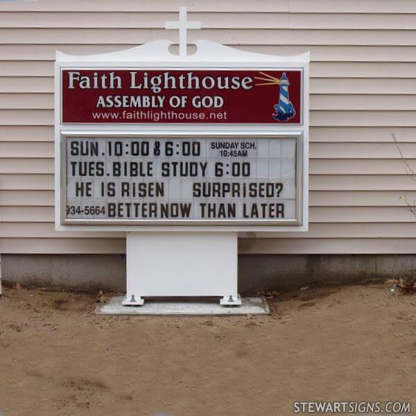 Church Sign for Faith Lighthouse
