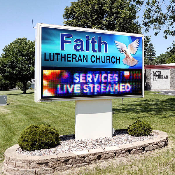 Church Sign for Faith Lutheran Church