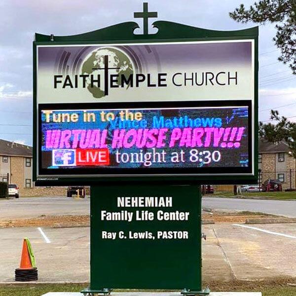 Church Sign for Faith Temple Church Of God In Christ