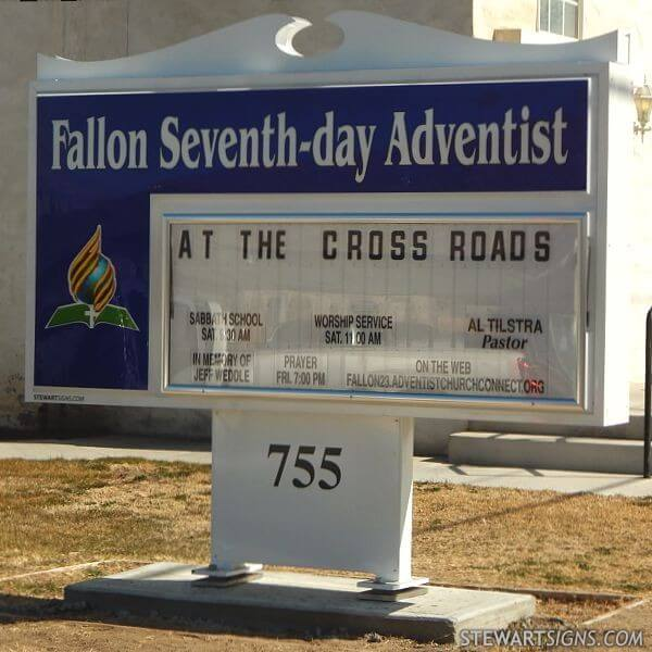 Church Sign for Fallon Seventh-day Adventist