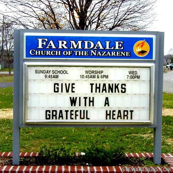 Church Sign for Farmdale Church Of The Nazarene